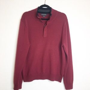 Brooks Brothers Merino Wool Burgundy Sweater Med